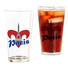 Paris Fleur de Lis Drinking Glass