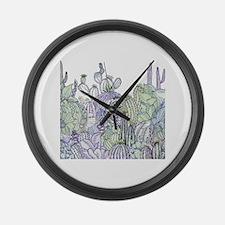Cacti Graden Large Wall Clock