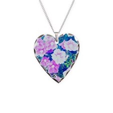 flower love Necklace Heart Charm