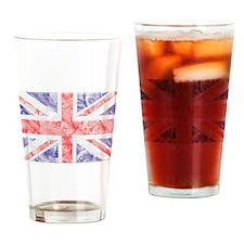Union Jack Flag Drinking Glass