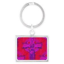 purple cross  Landscape Keychain