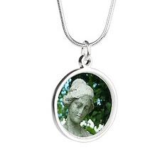 lady jane Silver Round Necklace