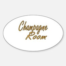 Champagne Room Sticker (Oval)