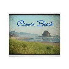 Cannon Beach Throw Blanket