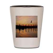 Sunset Over Belmar Marina Shot Glass