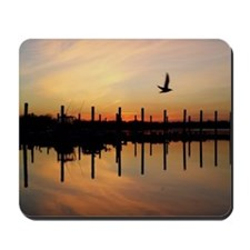 Sunset Over Belmar Marina Mousepad