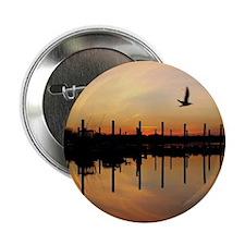 "Sunset Over Belmar Marina 2.25"" Button"