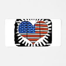 We Love America Rustic Edge Aluminum License Plate