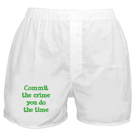 Commit the crime Boxer Shorts