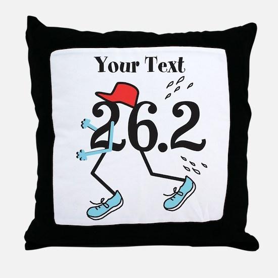 Customize Funny 26.2 Throw Pillow