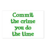 Commit the crime Postcards (Package of 8)