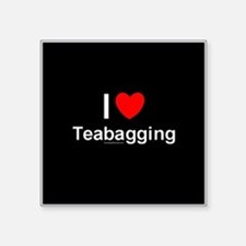 "Teabagging Square Sticker 3"" x 3"""