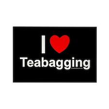 Teabagging Rectangle Magnet