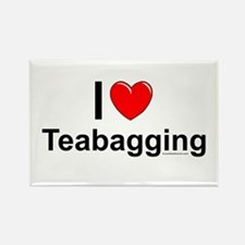 Teabagging Rectangle Magnet