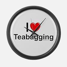 Teabagging Large Wall Clock