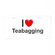 Teabagging Aluminum License Plate