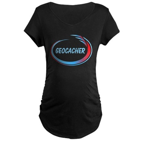 Geocacher With Pizzaz Maternity Dark T-Shirt