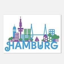 Cute Germany hamburg Postcards (Package of 8)