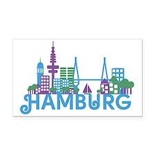 Cute Germany hamburg Rectangle Car Magnet