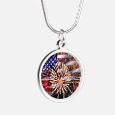 Usa Flag And Fireworks Necklaces