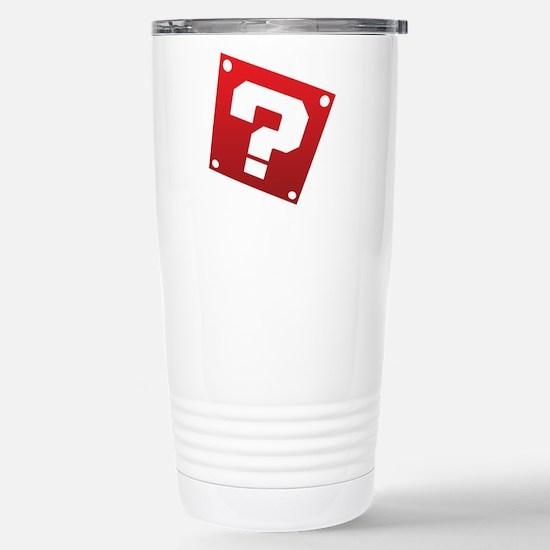 Warped Question - Red Travel Mug