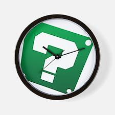 Warped Question - Green Wall Clock