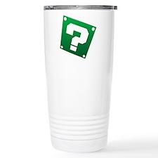 Warped Question - Green Travel Mug