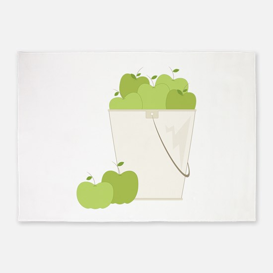 Bucket Of Apple 5'x7'Area Rug