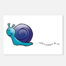 Blue and Purple Snail Postcards (Package of 8)