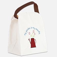My Garden Is My Serenity Canvas Lunch Bag