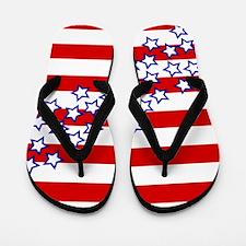 Stars and Stripes Flip Flops