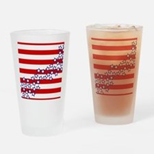 Stars and Stripes Drinking Glass