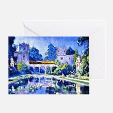 Lily Pond, Balboa Park Greeting Card