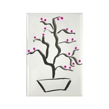 cherry bonsai Rectangle Magnet