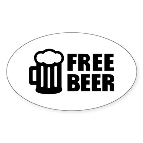 Free Beer Sticker (Oval 10 pk)
