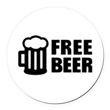 Free Beer Round Car Magnet