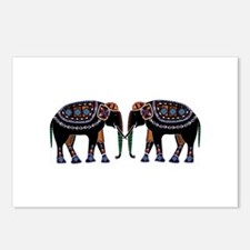 Ethnic Style African Elephants Postcards (Package