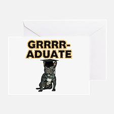 Graduation French Bulldog Greeting Card