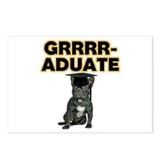 Graduation French Bulldog Postcards (Package of 8)
