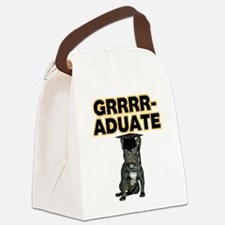 Graduation French Bulldog Canvas Lunch Bag