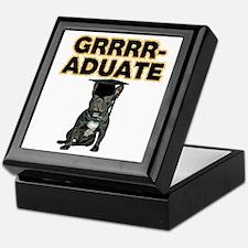 Graduation French Bulldog Keepsake Box