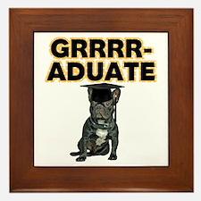Graduation French Bulldog Framed Tile