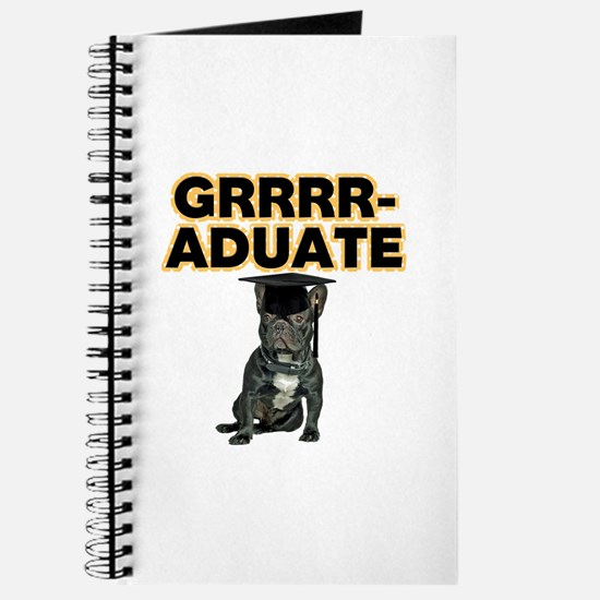 Graduation French Bulldog Journal