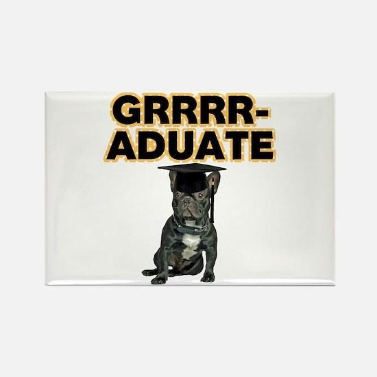 Graduation French Bulldog Rectangle Magnet
