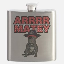 Pirate French Bulldog Flask