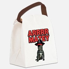 Pirate French Bulldog Canvas Lunch Bag