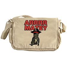 Pirate French Bulldog Messenger Bag