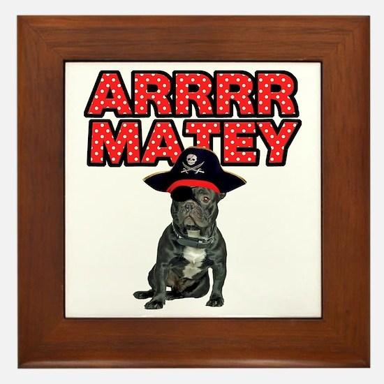 Pirate French Bulldog Framed Tile