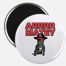 Pirate French Bulldog Magnet