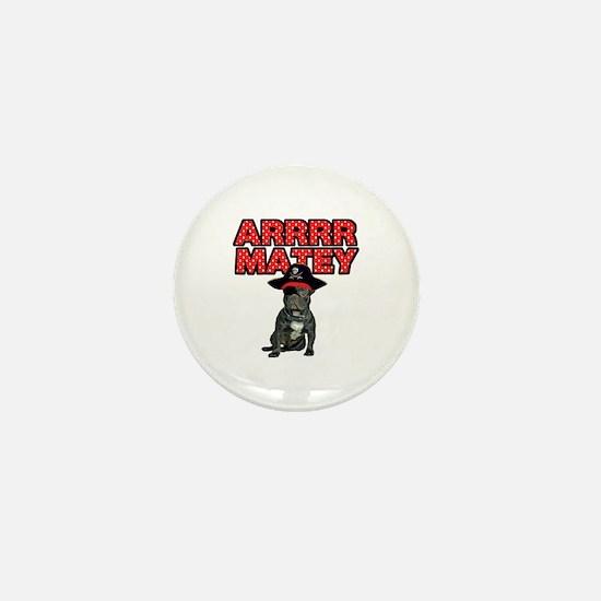 Pirate French Bulldog Mini Button